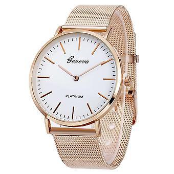 New Famous Brand Silver Casual Geneva Quartz Watch