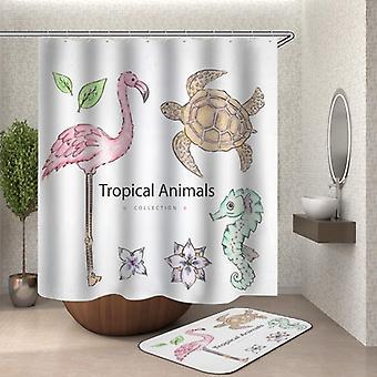 Trooppiset eläimet suihku verho