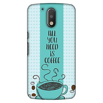 All You Need Is Coffee Slim Hard Shell Case For Motorola Moto G4 Play
