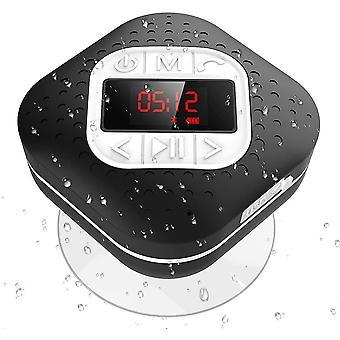 FengChun Bluetooth 4.1 Duschradio mit LED Digitalem Bildschirm, Saugnapf, IPX4 Wasserdicht Wireless
