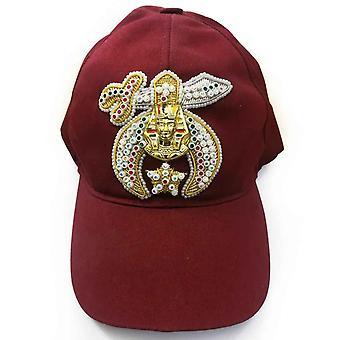 Berretto da baseball maroon ricamato gioiello Shriner