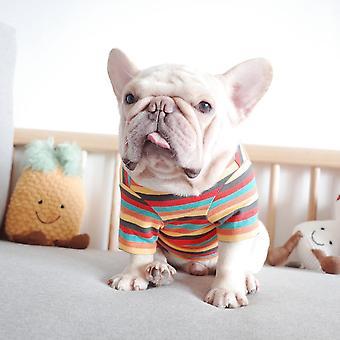 Lemmikkivaatekoira syksy talvi vaatteet neulottu raita