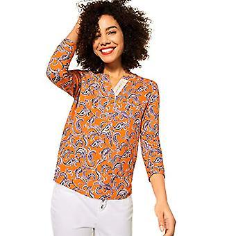 Street One 316015 T-Shirt, Tangerine Shiny, 40 Woman