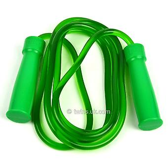Twins special green heavy rubber bearing skipping rope