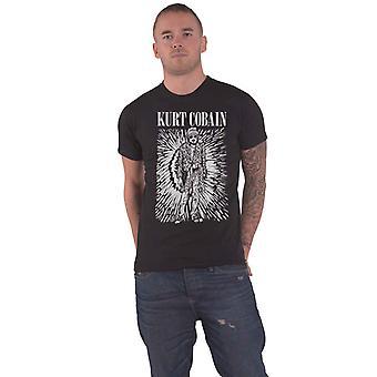 Kurt Cobain T Shirt Brilliance Logo new Official Mens Black