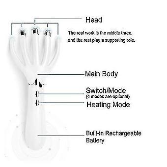 Elektrische Kopf Kopf Klau Massager Massage Handheld Vibration Stolierung Stoltonwerkzeug