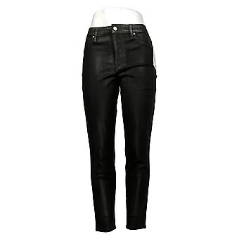 Martha Stewart Mujeres's Jeans recubierto Denim Tobillo Negro A345124