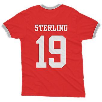 Raheem sterling 19 england country ringer t-shirt