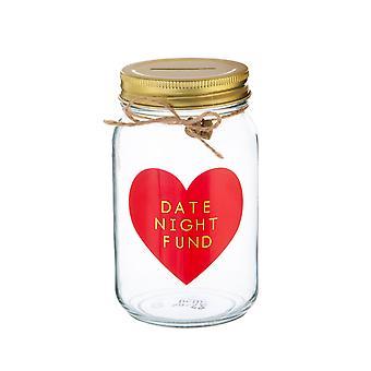 Sass & Belle Date Night Fund Money Jar