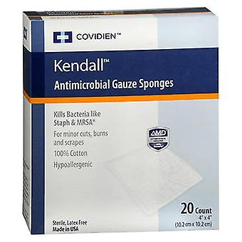 Kendall Kendall Antimicrobial Gauze Sponges, 20 Count