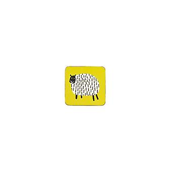 Ulster Weavers Dotty Sheep Cork Mat Wipe-Clean 4 Pack Drink Coasters