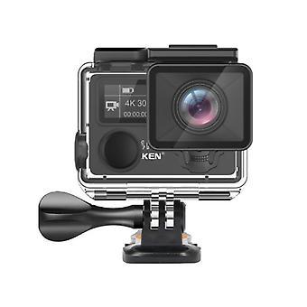 Action Camera Plus -kaukosäädin, Ultra Hd, Wifi-kypäräkamera, Go Vedenpitävä Pro
