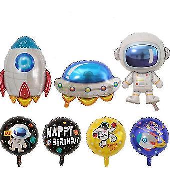 Astronaut Spaceman Balloons Rocket Airship Moon Balloons Helium Foil Balloons