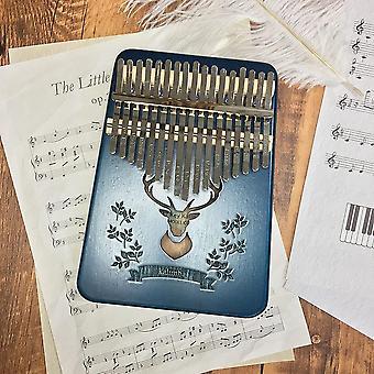 Kalimba 17-key thumb piano high quality wood mahogany mbila body instrument