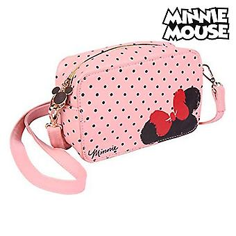 Bolso de hombro Minnie Mouse (19 x 12,1 x 6,5 cm) Rosa