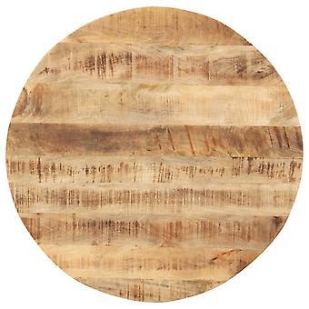 vidaXL Pöytä Ylhäällä Massiivipuu Mango Pyöreä 15-16 mm 70 cm