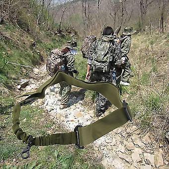 Tactique 1 sangle de système d'élingue de chasse réglable en un seul point avec boucle