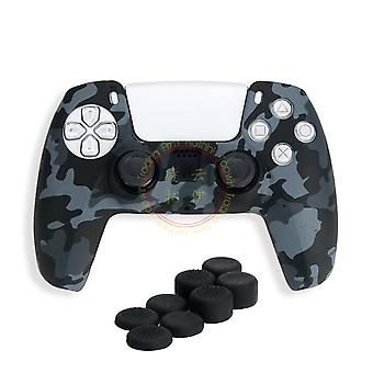 Silicone Cover Case Aniti-slip Camouflage Color For Ps4