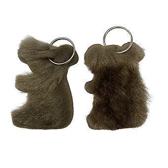 Jacaru 6404 nyckelring koala form, känguru päls