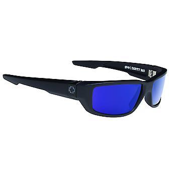 Spy Optic Dirty Mo Matte Black Wrap zonnebril - Happy Bronze Polar met blauwe spectra - 60mm