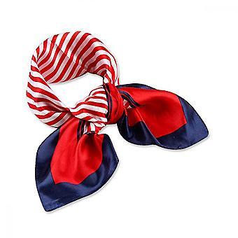 Square Neck Scarf, Multiuse Satinior Chiffon Handkerchief Satin Ribbon(50*50cm)