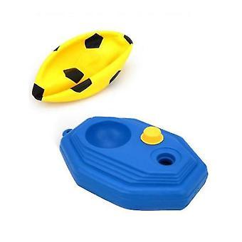 Children Football Goal Post Set With Ball Pump Indoor Outdoor Soccer Sport Games(Yellow)