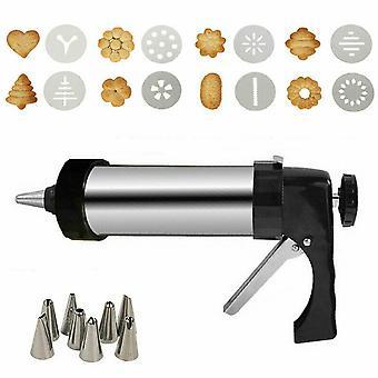 Stainless Steel Biscuit Gun Cookie Icing Cake Machine Hand-pressed Biscuit Making Machine