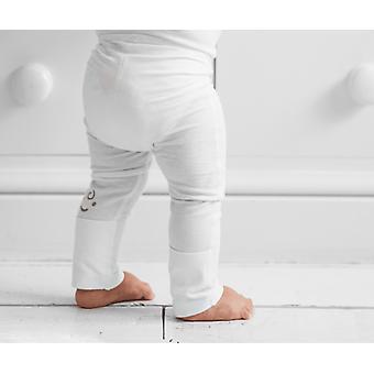 Eksem beroligende baby leggings med sammenleggbare føtter 3-6m