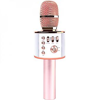 Devrnez 5-in-1 Upgraded Bluetooth Wireless Microphone With Colorful Led Lights, Birthday/halloween/christmas Xmas Gifts