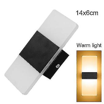 Led light bulbs led wall light-up down cube indoor outdoor sconce lighting lamp fixture decor hr 8