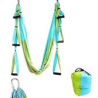 Aerial Yoga Hangmat 6 Handvatten Strap Home Gym Hangende Riem Swing Anti-zwaartekracht Lucht tractie Apparaat