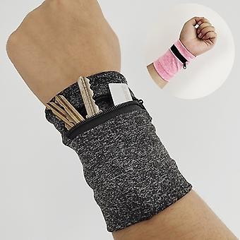Nieuwe mode Unisex pols portemonnee pouch band fleece rits lopen reizen gym fietsen veilige sport pols portemonnee sport accessoires