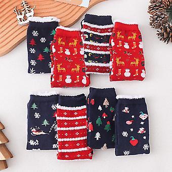 Evago 5 par / 6 par / 8 par kvinner fuzzy fluffy sokker varm vinter koselig mykt mannskap tøfler sokker hjem sovende søtt dyr julesokker jul G
