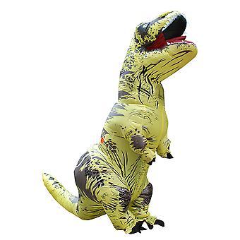 Sárga Felnőtt Tyrannosaurus Rex felfújható jelmez felnőtt dinoszaurusz jelmez