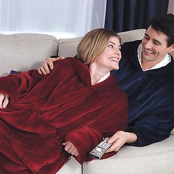 2pcs Oversized Light Microfiber Wearable Blanket & Sherpa Wearable Blanket