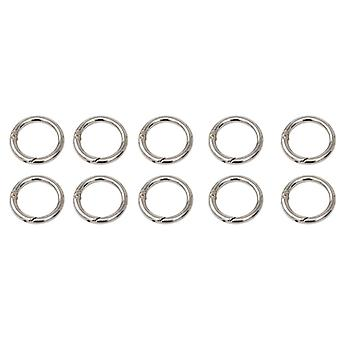 10 Pcs Spring Buckle Clip Loop Carabiner For Keychain Jewelry Diy Craft Making