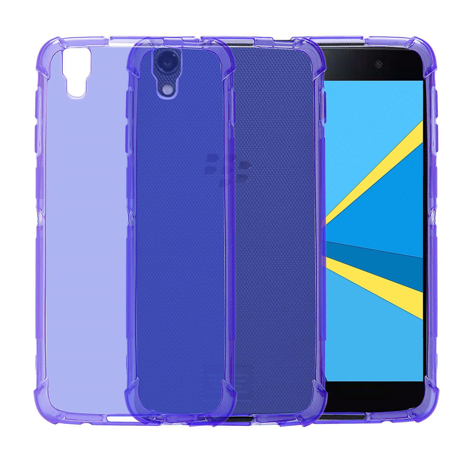32nd Tough Gel case + stylus for BlackBerry DTEK50 - Purple