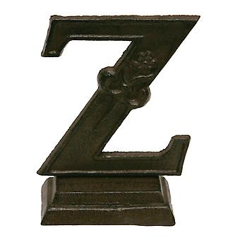 Iron Ornate Standing Monogram Letter Z Tabletop Figurine 5 Inches