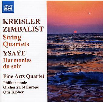 Kreisler/Zimbalist/Ysaye - Fritz Kreisler, Efrem Zimbalist: String Quartets; Ysa E: Harmonies Du Soir [CD] USA import