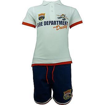 Garçons Disney Pixar Planes OE1494 Set poussiéreux Polo manches courtes T-shirt & Shorts