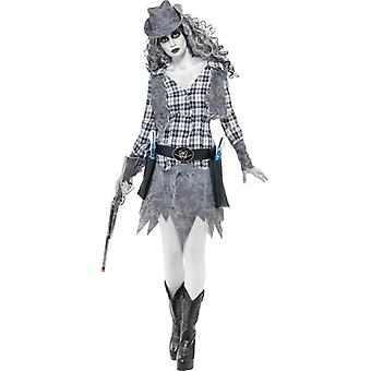 Spookstad Cowgirl zombie kostuum dames Western Halloween