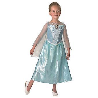 Prinsesse Elsa Frozen kostume Ice Princess med musik og lys effekt børn