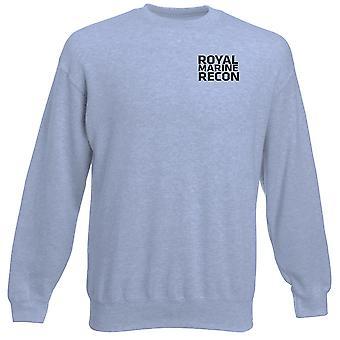 Kuninkaallisen merijalkaväen Recon teksti brodeerattu Logo - virallinen raskaansarjan pusero