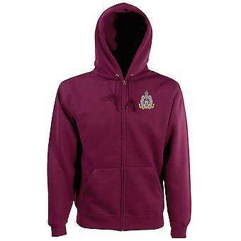 The Suffolk Regiment Embroidered Logo - Official British Army Zipped Hoodie Jacket