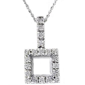 1 / 2ct Vintage Style tasoittaa Diamond Solitaire Mount asettaminen