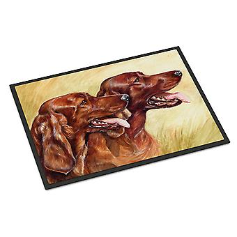 キャロラインズ宝物 CDCO0225MAT アイリッシュ セッター屋内または屋外マット 18 x 27