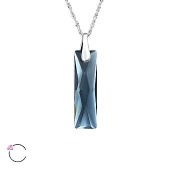 Rectangle crystal from Swarovski® - 925 Sterling Silver Necklaces - W27737X