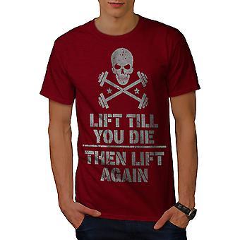 持ち上げる男性 RedT シャツを死ぬまで |Wellcoda