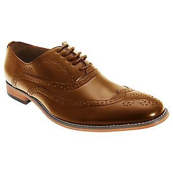Goor Mens 5 Eyelet Brogue Oxford Shoes
