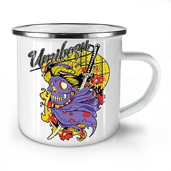 Umibozu Spirit Cool NEW WhiteTea Coffee Enamel Mug10 oz | Wellcoda